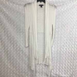 INC Womens Cardigan Cover Wrap Medium Off White
